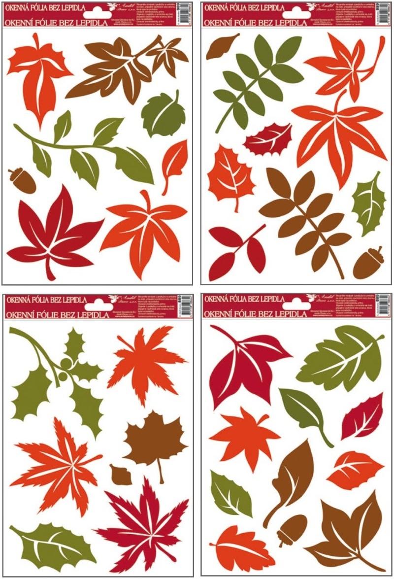 Fólie okenní barevné podzimní listy 27x20cm 889 (889)