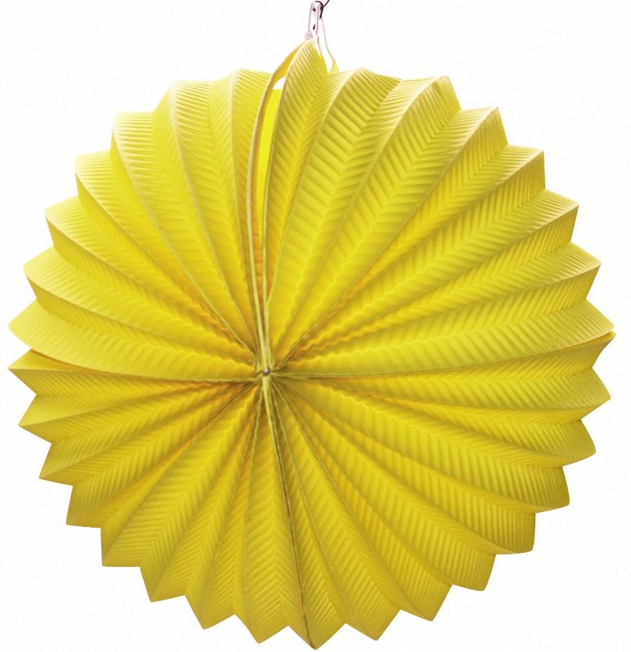 Lampion kulatý žlutý