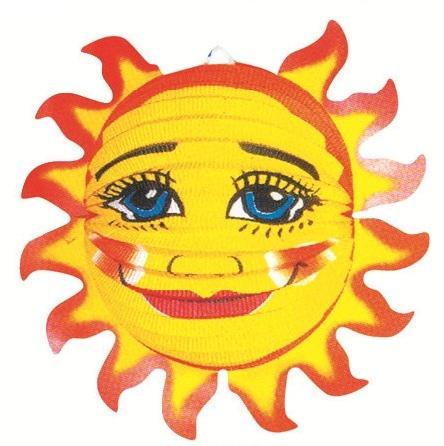 Lampion slunce 33 x 17 cm