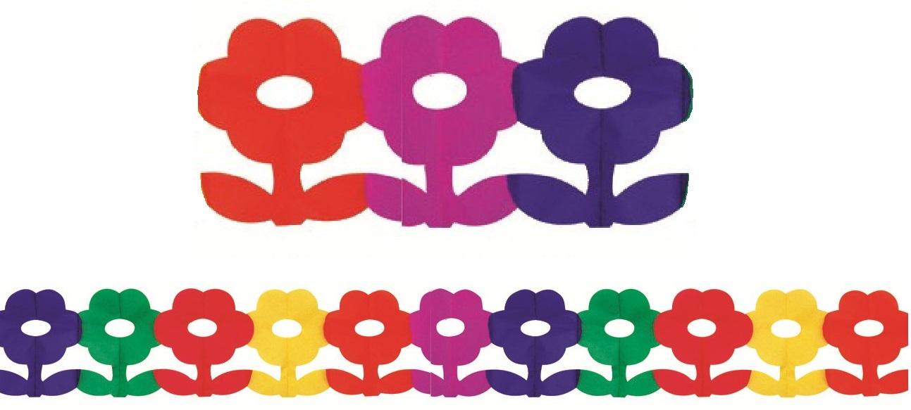 Girlanda 400x20 cm - kytičky (9018)
