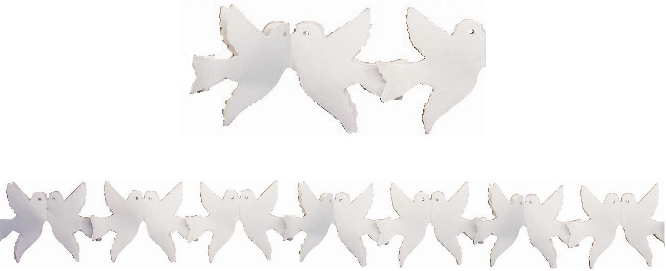 Girlanda 400x16,5 cm - holubičky (9020)