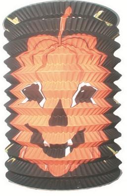 Lampion válec černý s dýní, 15cm (9061)