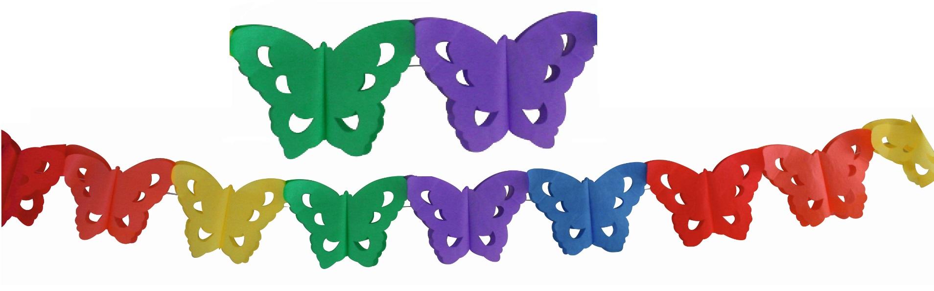 Girlanda 400x16 cm - motýlci (9071)