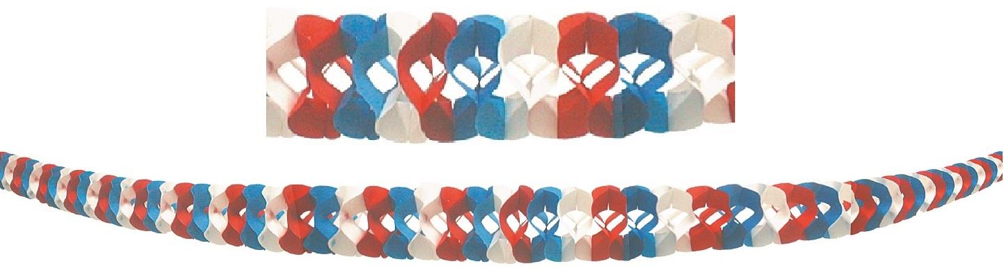 Girlanda v národních barvách, 1ks=230cm x 8cm, 2ks v balení