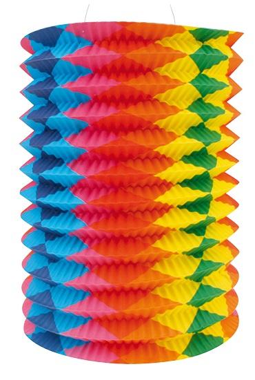 Lampion válec se svislými pruhy 15cm (9080)