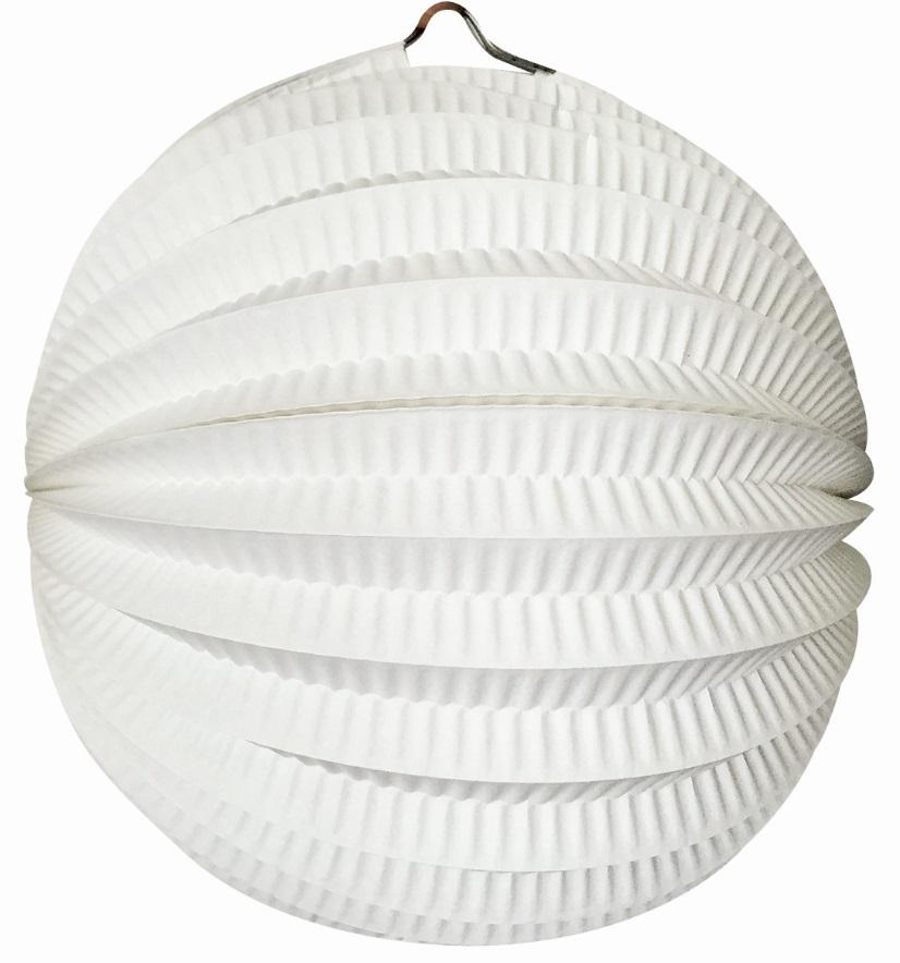 Kulatý lampion 21 cm bílý (9084)