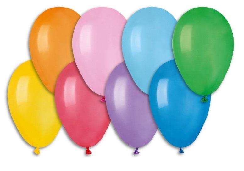 Balónky 19 cm, 100 ks v sáčku, mix barev (9086)