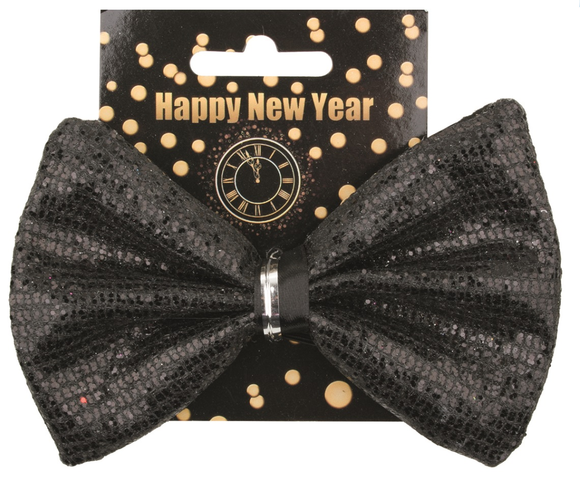 Motýlek HAPPY NEW YEAR s flitry