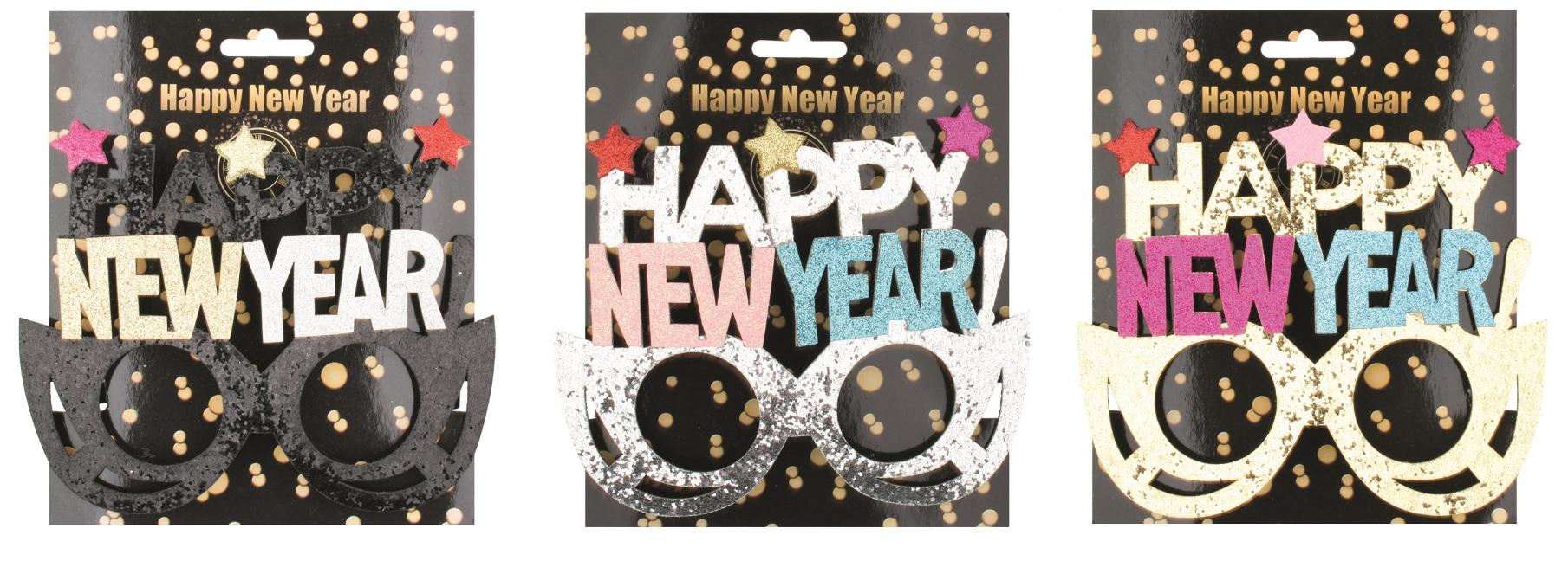 Brýle s nápisem HAPPY NEW YEAR