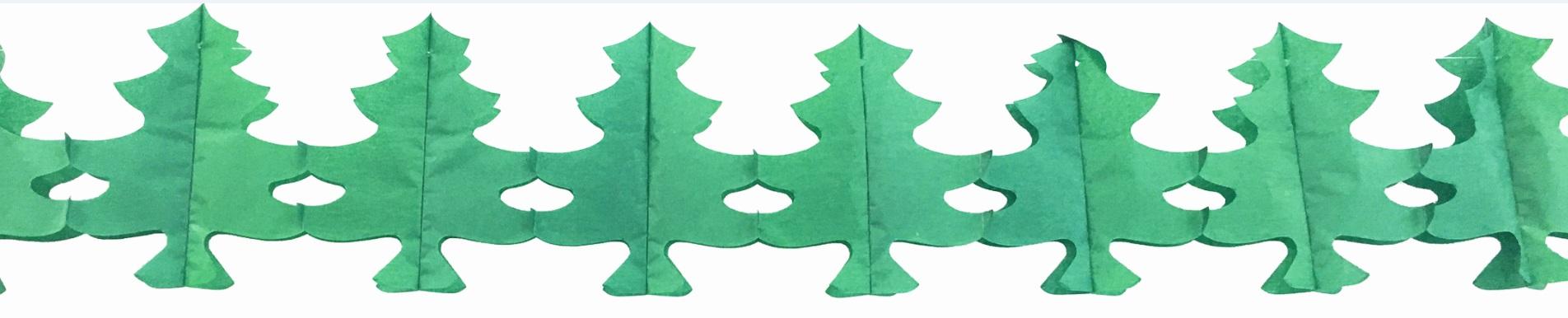 Papírová Girlanda  300x17,5 cm-stromky