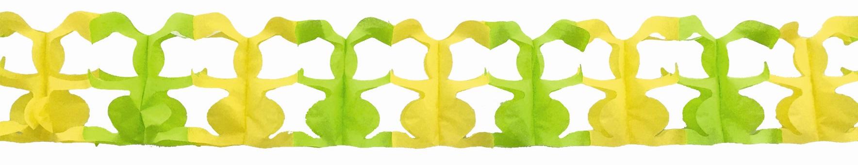 Papírová Girlanda  300x18 cm- zajíci (9210)