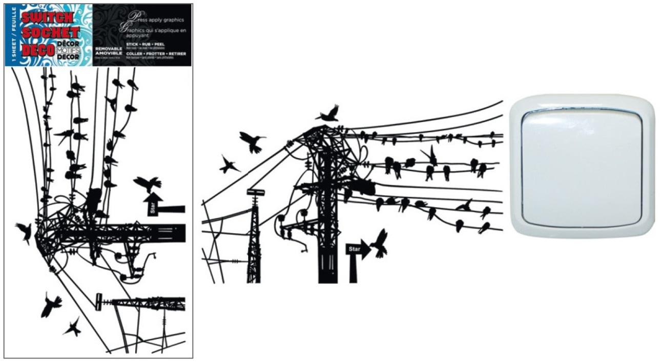 Dekorace k vypínači a jiné hladké plochy dráty 24x15cm (944)