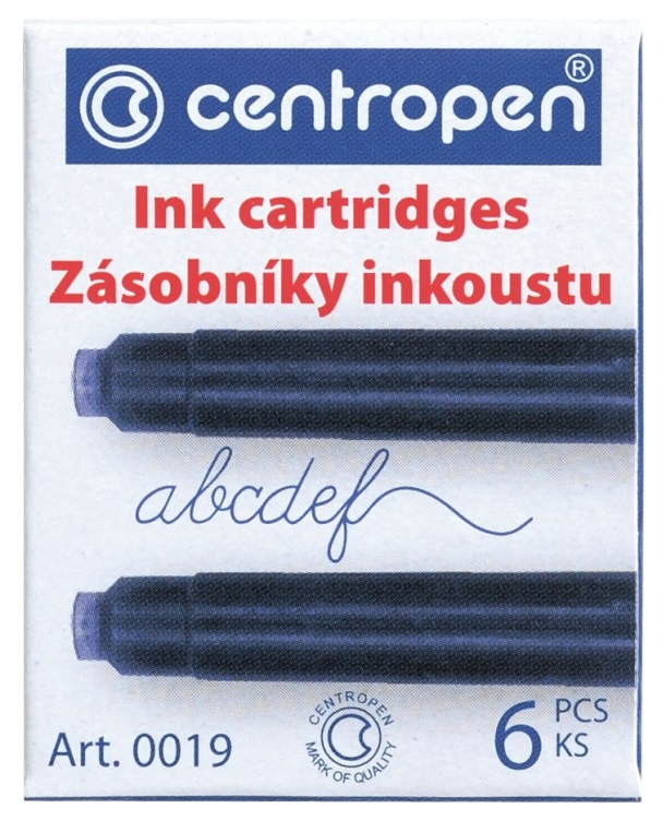 Bombička-inkoustový zásobník 6 ks, CENTROPEN