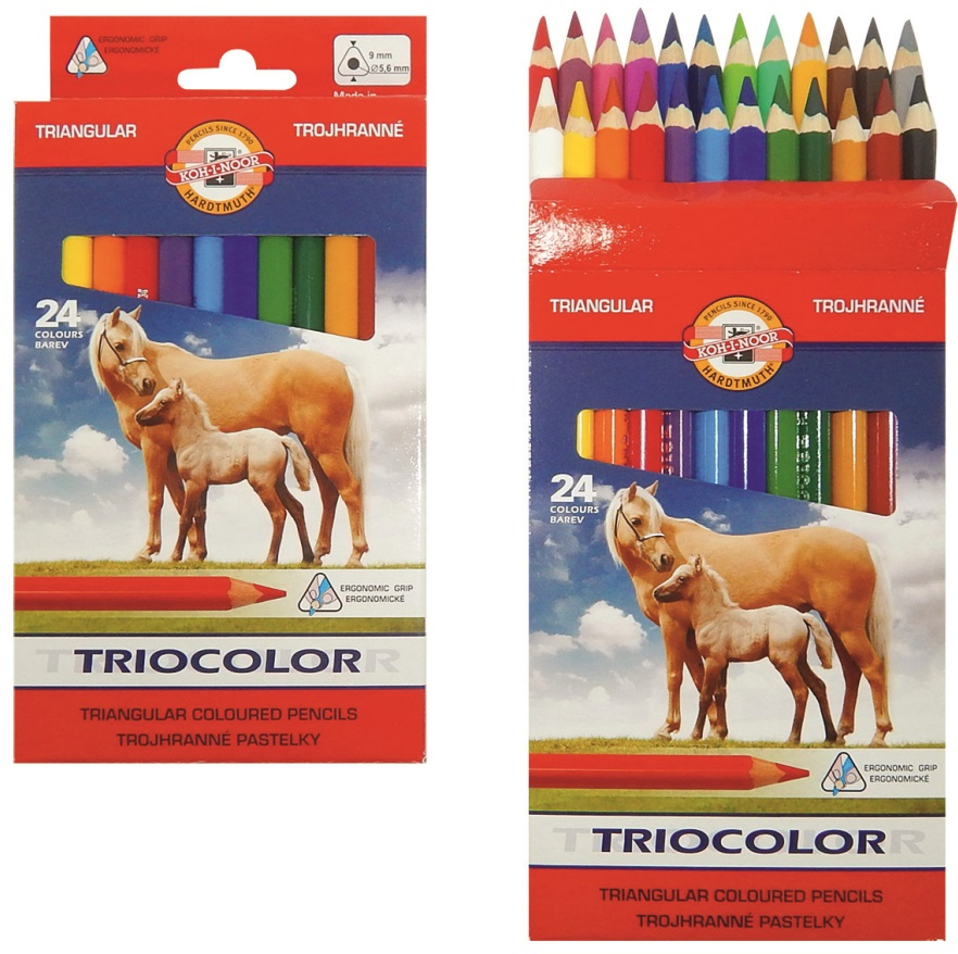 Pastelové tužky trojhranné 24 ks KOH-I-NOOR