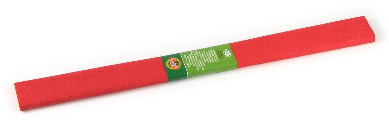 Krepový papír 50 x 200 cm, světle červený, KOH-I-NOOR