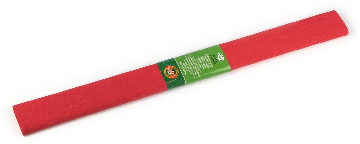 Krepový papír 50 x 200 cm, tmavě červený, KOH-I-NOOR