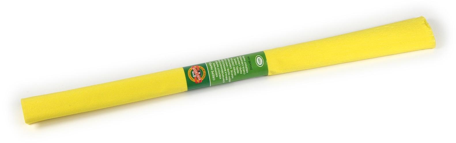 Krepový papír 50 x 200 cm, středně žlutý, KOH-I-NOOR (992056)
