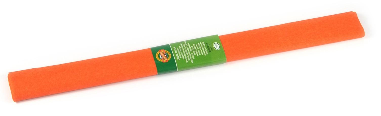 Krepový papír 50 x 200 cm, tmavě oranžový, KOH-I-NOOR