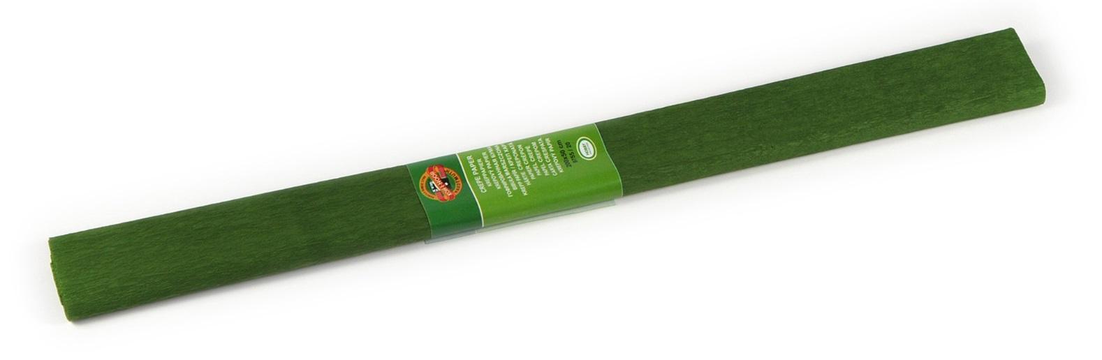 Krepový papír 50 x 200 cm, olivově zelený, KOH-I-NOOR
