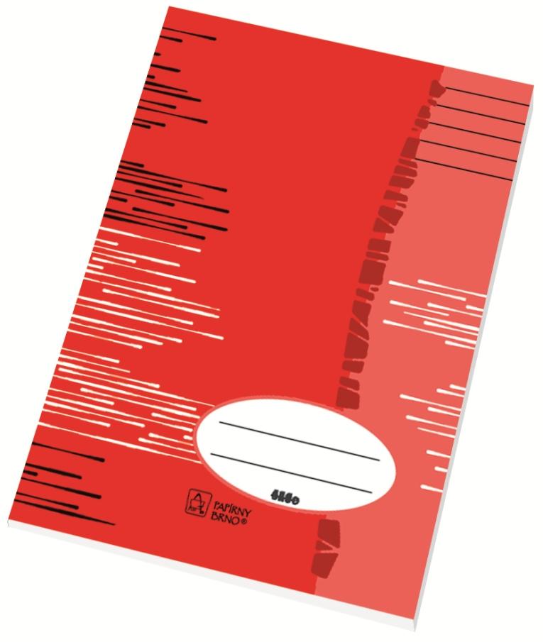 Školní sešit 444 - A4, linka 8 mm, 40 listů